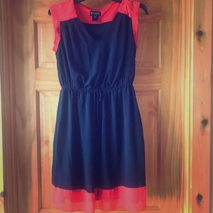 Enfocus Studio navy and coral dress size 8